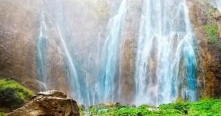 природа, водоспад, вода, камінь, скелі, красиво, літо