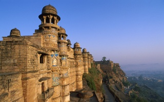 India, wall, the temple, cliff, rock, castle