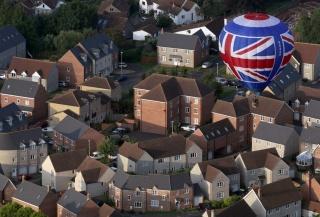 Англия, Бристоль, здания, воздушный шар, полёт, красота