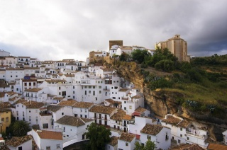 Spain, Andalucia, rock, building, beauty, the sky, greens, cool