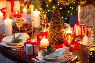 Nový rok, stůl, 2015, makro, foto