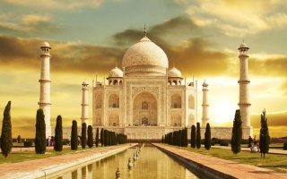 Тадж-Махал, Індія, будівля, небо, музей