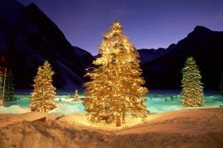 природа, горы, Новый год, снег, зима, вечер, красиво