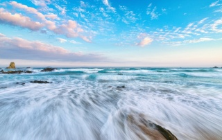 океан, небо, волна, побережье, красота