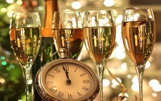 Новий рік, вина, годинник, пити