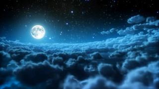 moon, cloudy, night, sky
