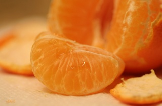 Mandarin, slice, juice, beauty
