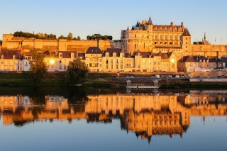 France, castle, castles of the world, castles of France, river, reflection, beauty
