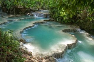 Китай, чудеса природи, каскад, заповідник Хуанлун, краса, озера