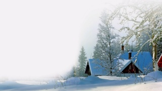 snow, white, the house, winter, drifts