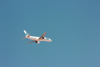 the plane, the sky