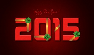New year, 2015, red background