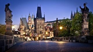 Прага, старий, місто, світ, вдома