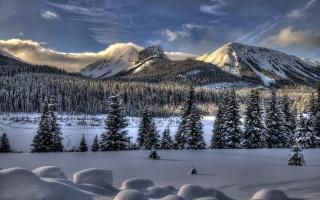 mountain, View, lake, trees, colors, sky