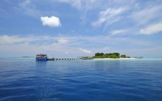 island, exotic, ocean, blue, sky, water, sea