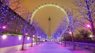 Лондон, лондон, колеса, річка, Англія