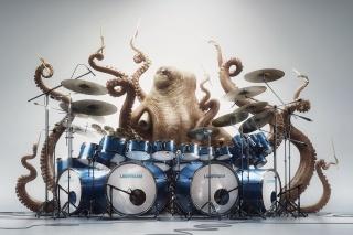 спрут, octopus, bubny, bubeník, oči, náladu