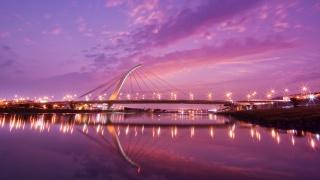 мост, более, море, воды, город