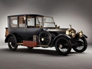 Rolls-royce, Stříbrná, Ghost, 1915, Auto, retro