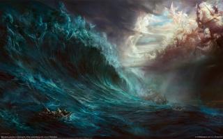 дэхун он, море, битва, гибель, волна