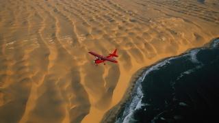 Літак, літак, десерт, Повітряна, пляж, океан