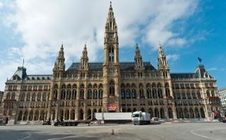 Rakousko, Vídeň, krása, budova