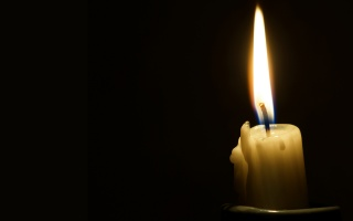 Candle, Flame, fire, black, background, minimalism