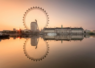 the sky, sunset, water, reflection, wheel, home, landscape