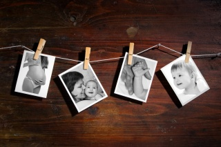 foto, polaroid, kolíky, koláž