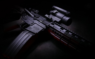M4, carbine, shop, optics, Larue Tactical, weapons, twilight, hd