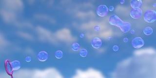 різнокольорові, мильні, бульбашки
