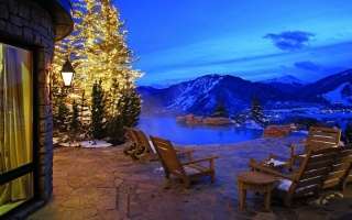 mountain, dinner, water, View, sky