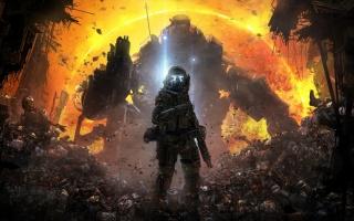 Titanfall, солдат, титан, мертві тіла