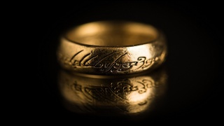 the Lord of the rings, the dark background, ring, gold, labels