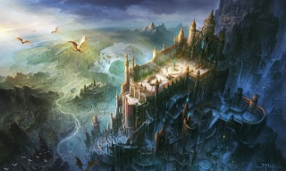 an impregnable fortress, dragons, wild earth