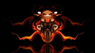 Tony Kokhan, Moto, Suzuki, Hayabusa, Back, fire, Abstract, bike, Orange, black, GSX, 1300R, HD Wallpapers, el Tony Cars, Photoshop, Design, art, style, Tony Kokhan, photoshop, Moto, motorcycle, Suzuki, Хаябуса, rear view, Fire, the bike, Abstract, Effects