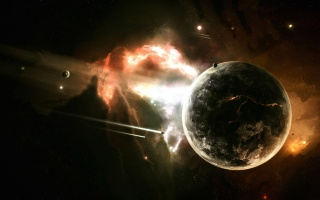 The expansion of the worlds, spaceships, planet, the universe, nebula