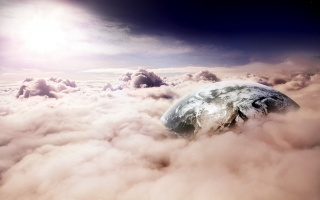 cloud, sky, earth, Fantasy