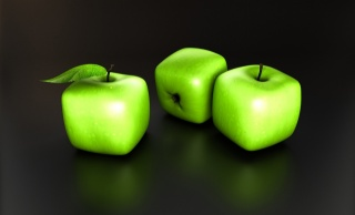 яблоки, фэнтези, креатив, темный фон