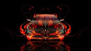 Тоні Кохан, mercedes-benz, передня частина, вогонь, Абстрактний, автомобіль, Полум'я, Помаранчевий, чорний, Купе, Мерседес, el Tony Cars, HD шпалери, Дизайн, мистецтво, стиль, Тоні Кохан, фотошоп, Стиль, Мерседес-Бенц, мерседес, вид спереду, Купе, Вогняна, машина, Вогняне, Авто