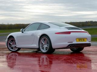 Porsche, 911, Каррера 4, Купе, автомобіль, білий, Авто