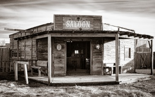bar, the saloon, wooden, Style, dikici, West, atmospheric, solar, light, shadow, black and white