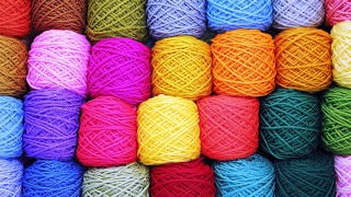 skeins of thread, colorful, beautiful