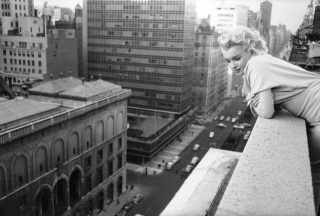 Marilyn Monroe, famous actress, 1955, rare photo, author E. fingers
