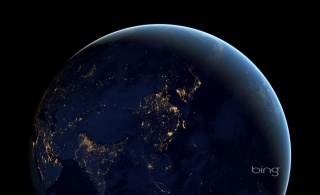 photo, space, earth, night, Eurasia, beautiful, bing