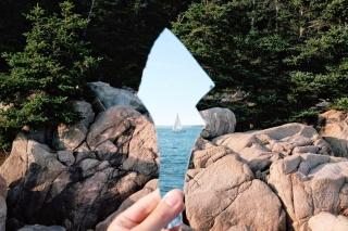 уламок дзеркала, відображення