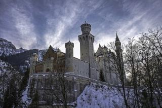 замок, зимовий замок, замок в горах