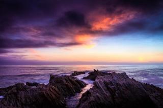 dawn, sea, rock