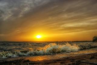 sunset, sea, surf