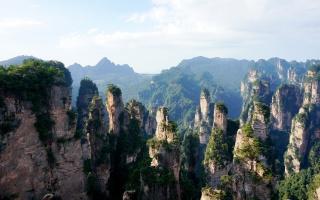 Гори Улін'юань, Національний парк Чжанцзяцзе, гори, чагарники